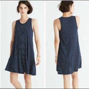 MADEWELL | Highpoint Tank Dress Chevron Stripe L